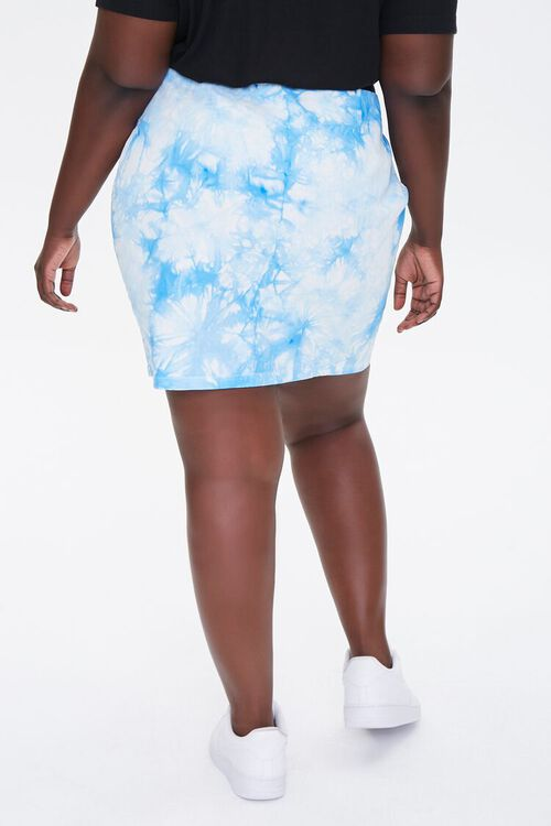 Plus Size Tie-Dye Mini Skirt, image 4