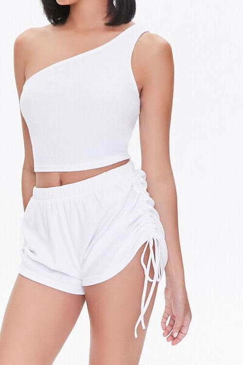 Ruched Drawstring Shorts, image 1