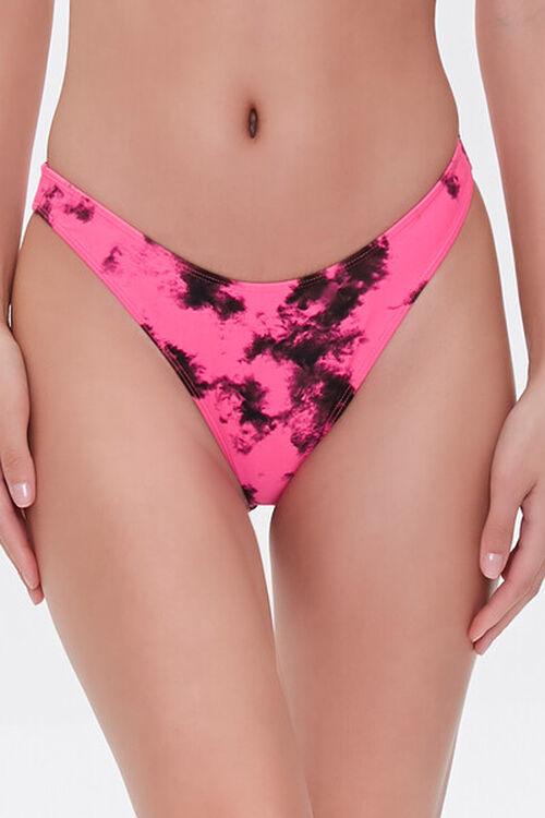 Tie-Dye High-Leg Bikini Bottoms, image 3
