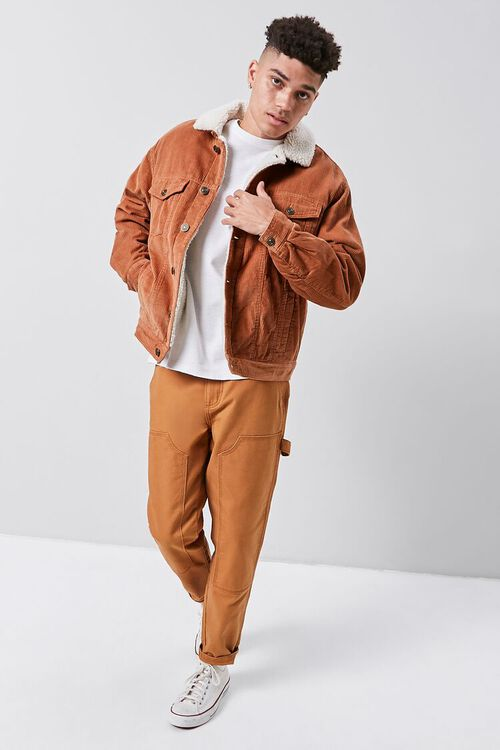 Corduroy Faux Shearling-Lined Jacket, image 4