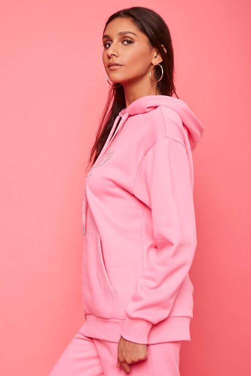 PINK/MULTI Juicy Couture Rhinestone Fleece Hoodie, image 2