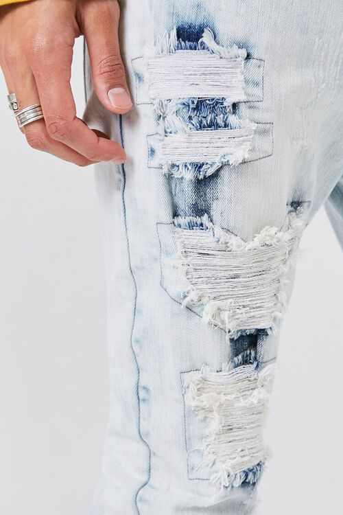 Bleached Distressed-Panel Skinny Jeans, image 5