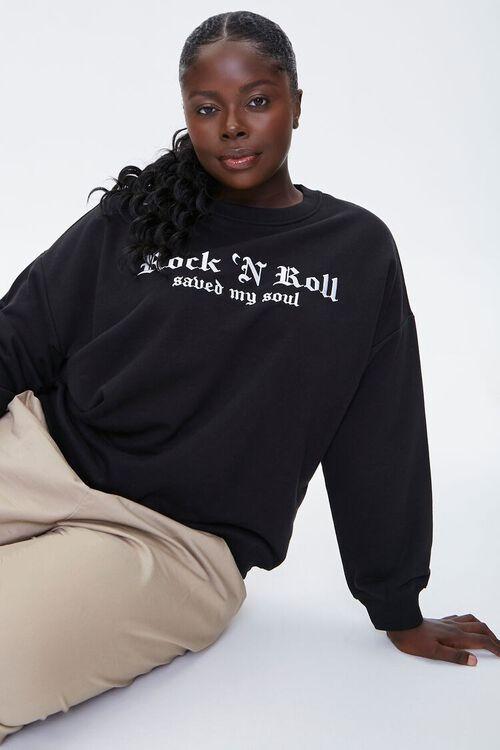 Plus Size Rock N Roll Sweatshirt, image 1