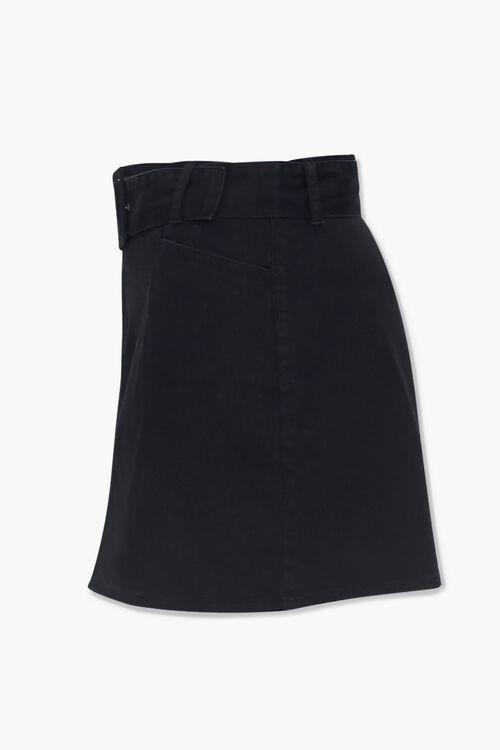 Plus Size Belted Denim Mini Skirt, image 2