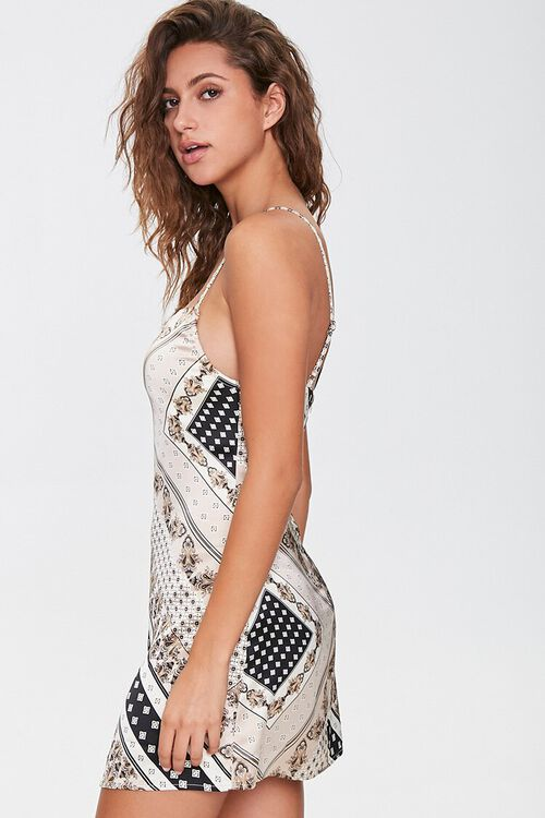 Ornate Print Mini Cami Dress, image 2
