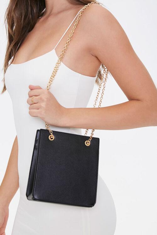 Faux Leather Mini Tote Bag, image 1