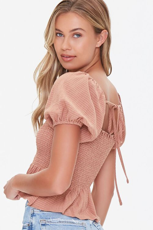 Striped Puff-Sleeve Top, image 2