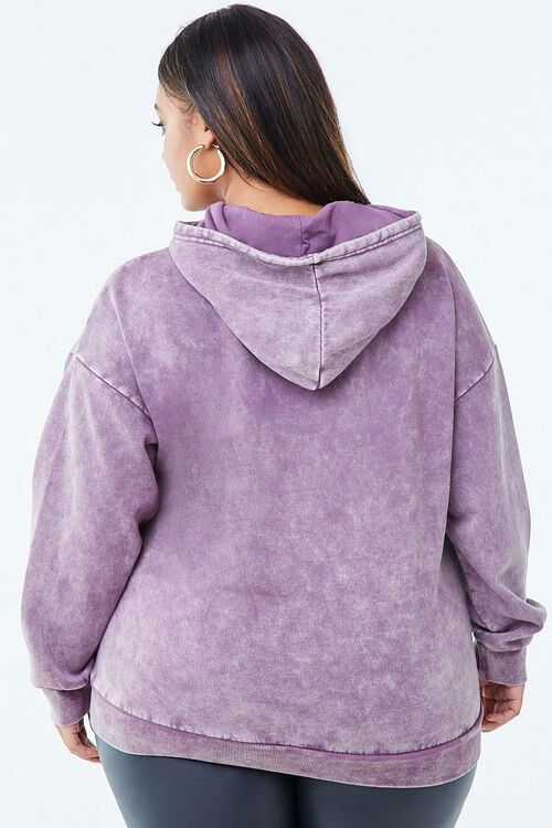 PURPLE/WHITE Plus Size Limited Edition Graphic Hoodie, image 3