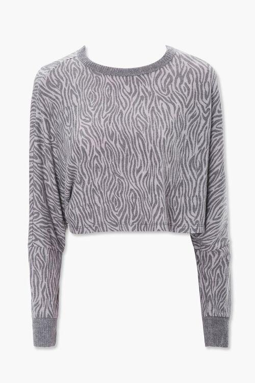 Tiger Stripe Print Pullover, image 1