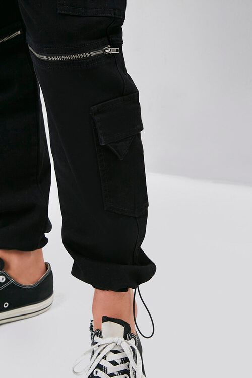 Zippered Drawstring Cargo Pants, image 5