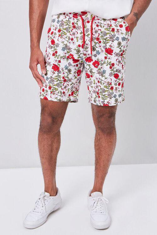 Floral Print Drawstring Shorts, image 2