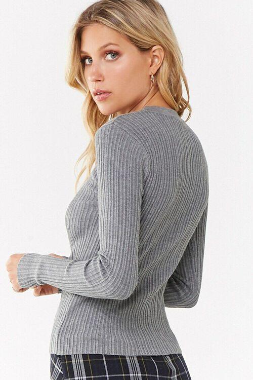 Ribbed Round Neck Sweater, image 4