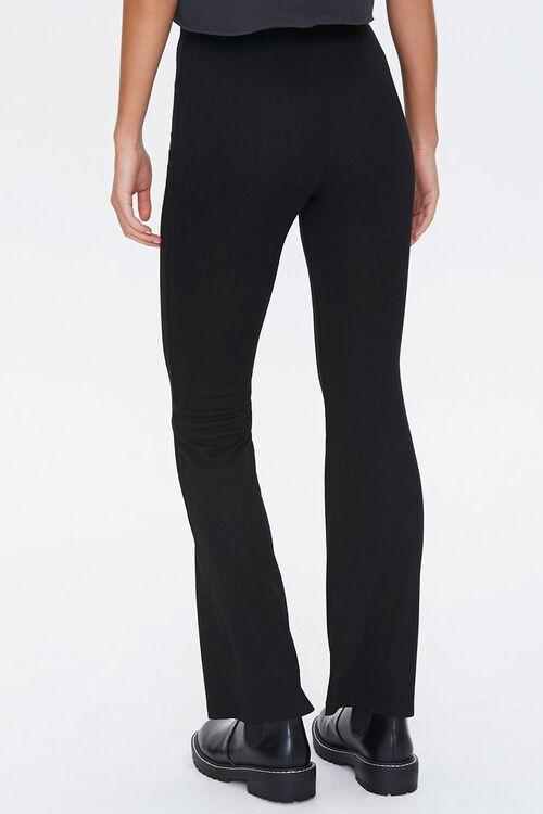 Ribbed Knit Flare Pants, image 4