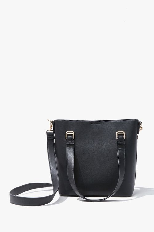 Faux Leather Tote Bag, image 1