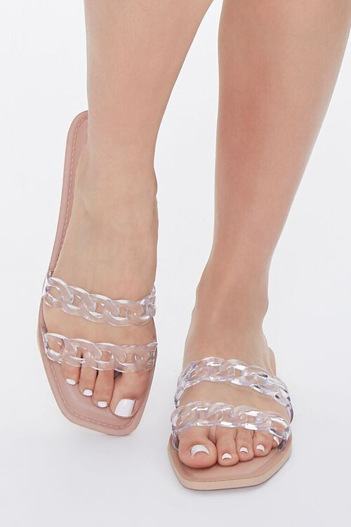 Clear Chain-Strap Sandals, image 4