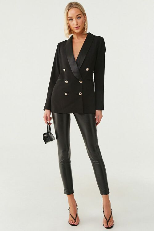 Double-Breasted Buttoned Blazer, image 4
