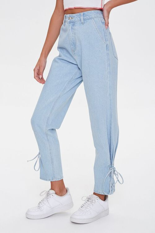 Lace-Up Mom Jeans, image 1