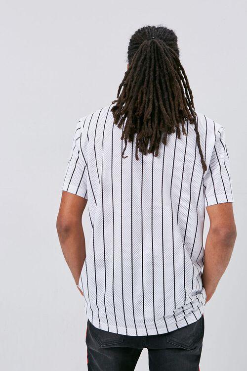 Vertical Striped Print Jersey Mesh Tee, image 3