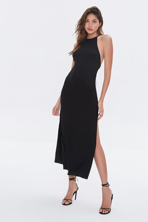 Strappy Open-Back Maxi Dress, image 1