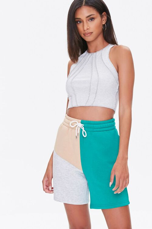 Fleece Colorblock Sweatshorts, image 6