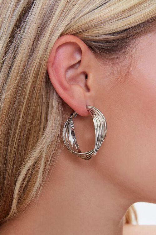 Twisted Hoop Earrings, image 2