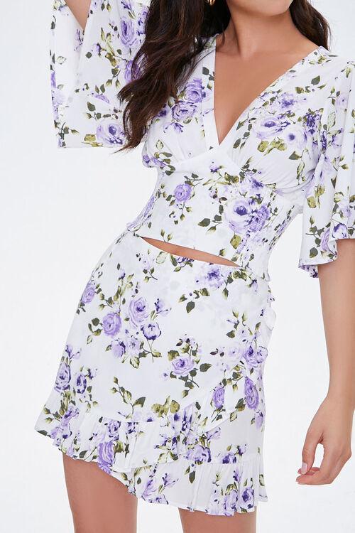 Floral Mock Wrap Skirt, image 1