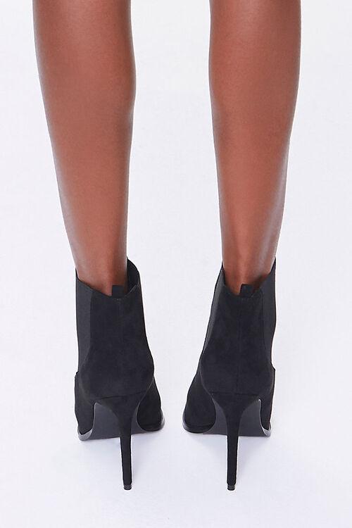 Faux Suede Stiletto Chelsea Boots, image 3