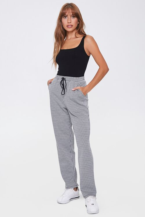 Houndstooth Wide-Leg Pants, image 5
