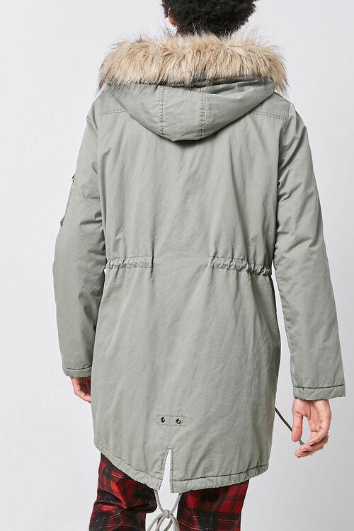 Faux Fur-Trim Longline Parka, image 4