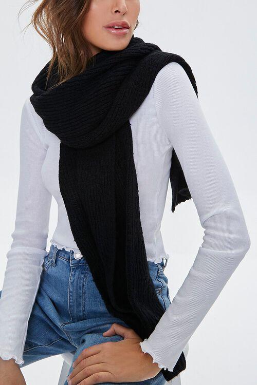 Brushed Knit Oblong Scarf, image 1