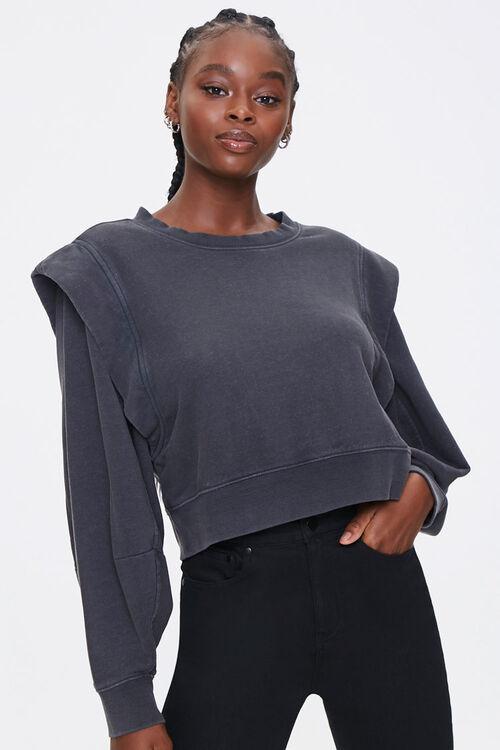 Layered Fleece Sweatshirt, image 1
