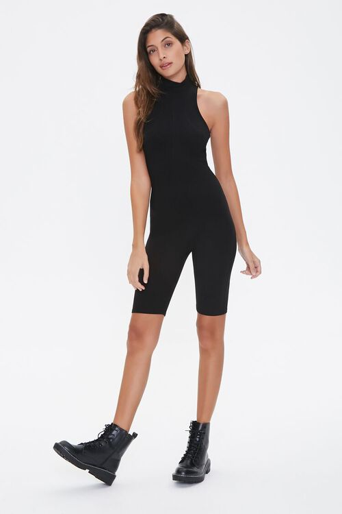 Fitted Racerback Romper, image 1