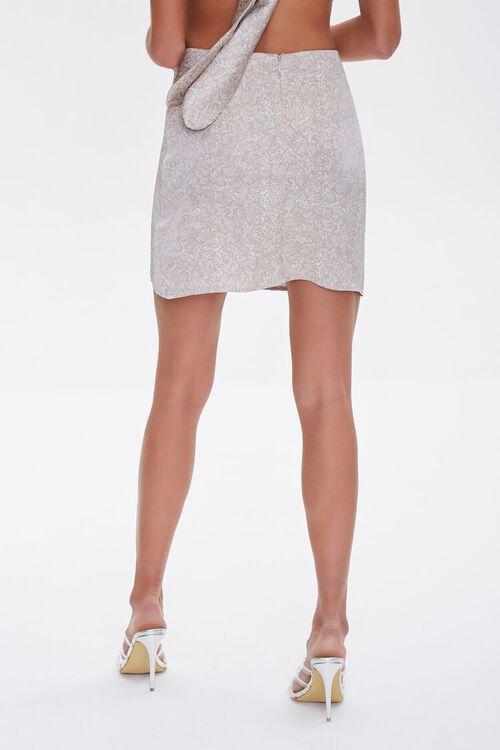 Snakeskin Print Mini Skirt, image 4