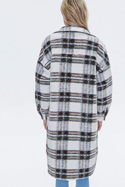 Brushed Plaid Longline Jacket, image 3