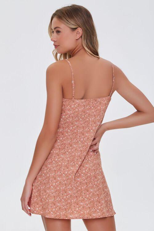 BROWN/MULTI Ditsy Floral Print Dress, image 3
