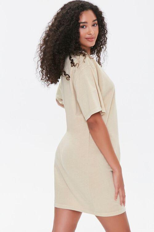 TAUPE/MULTI Malibu Graphic T-Shirt Dress, image 2