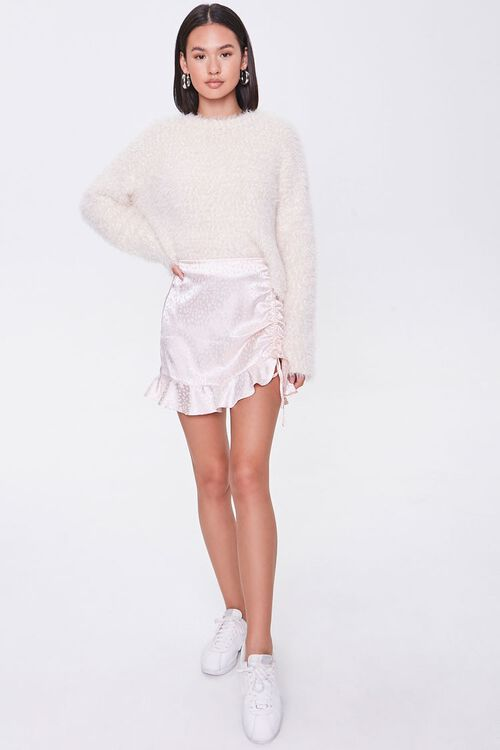 Satin Cheetah Print Mini Skirt, image 5