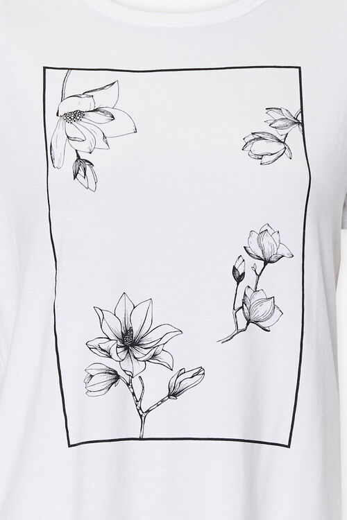 Floral Art Graphic Tee, image 3