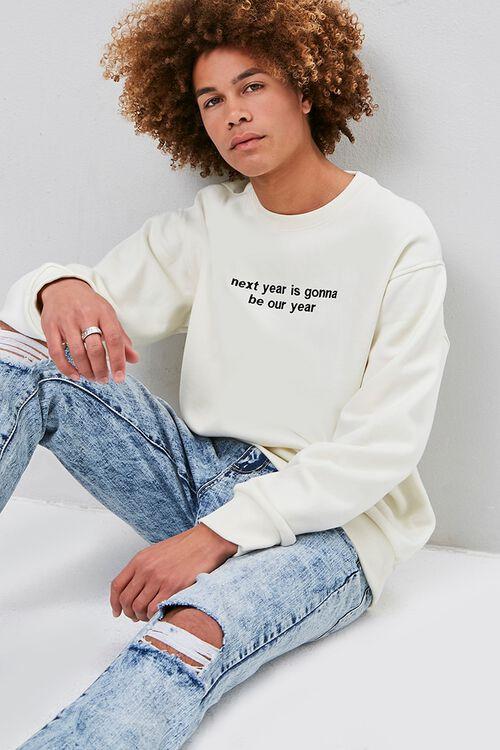Next Year Embroidered Graphic Sweatshirt, image 1
