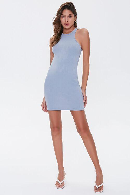 Ribbed Cutout Mini Dress, image 5