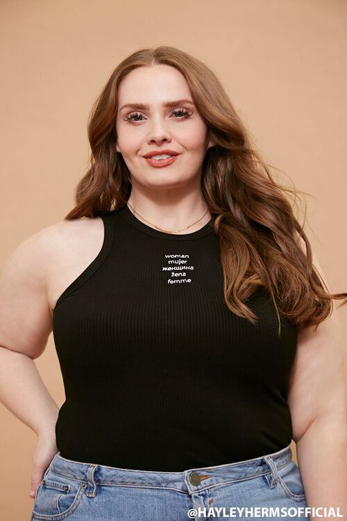 Plus Size Embroidered Woman Tank Top, image 1