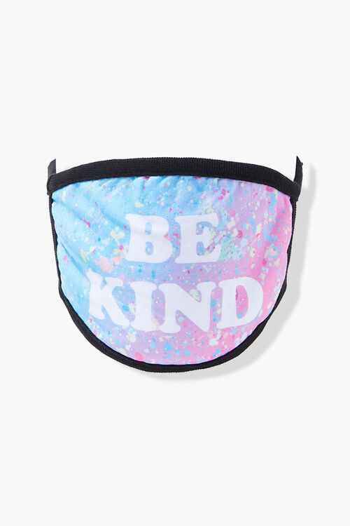 BLUE/MULTI Be Kind Graphic Face Mask, image 2