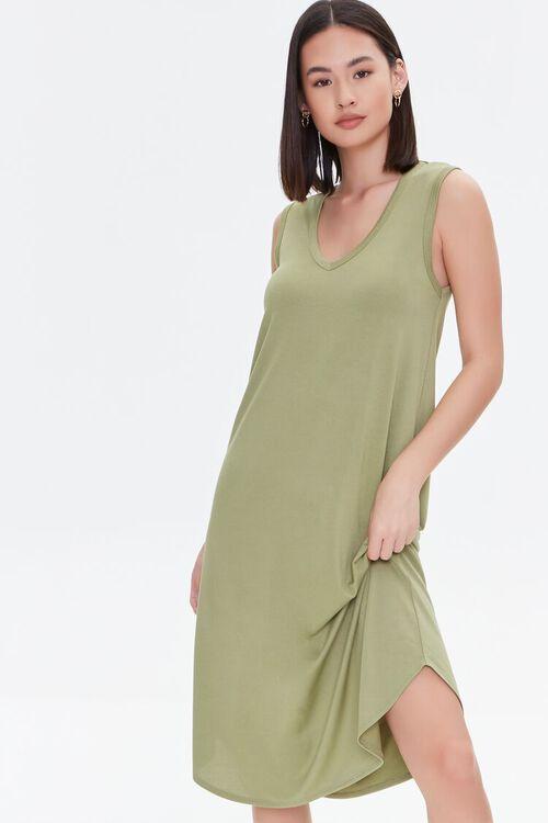 Dolphin-Hem Tank Dress, image 1