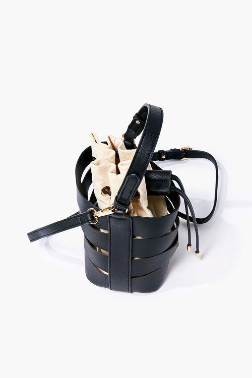 Caged Crossbody Bucket Bag, image 3