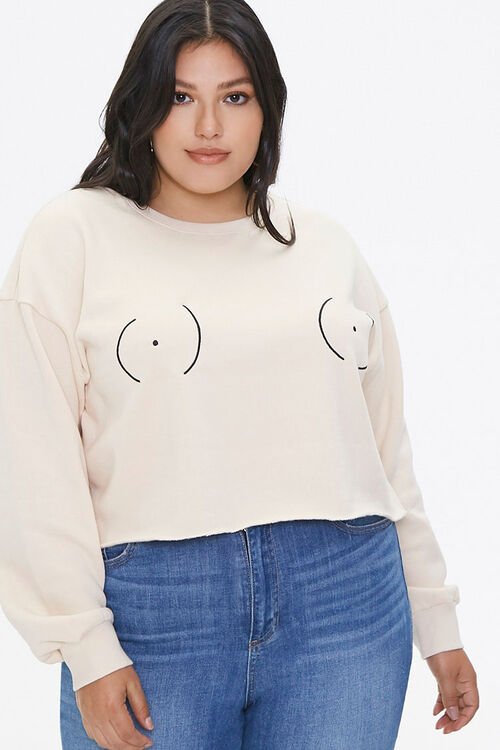 Plus Size Stand Up To Cancer Graphic Pullover, image 5