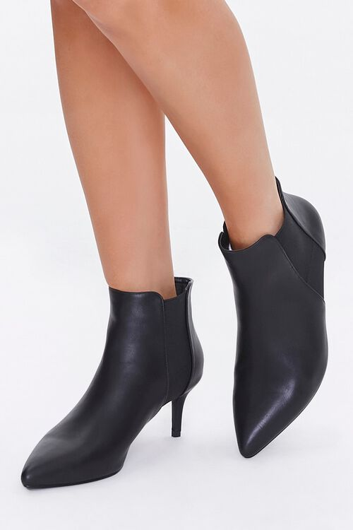 Faux Leather Stiletto Chelsea Boots, image 1