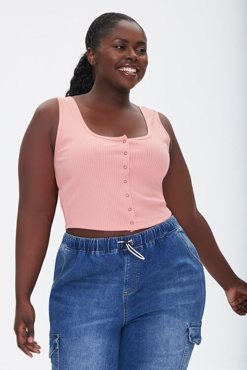 Plus Size Ribbed Tank Top, image 1