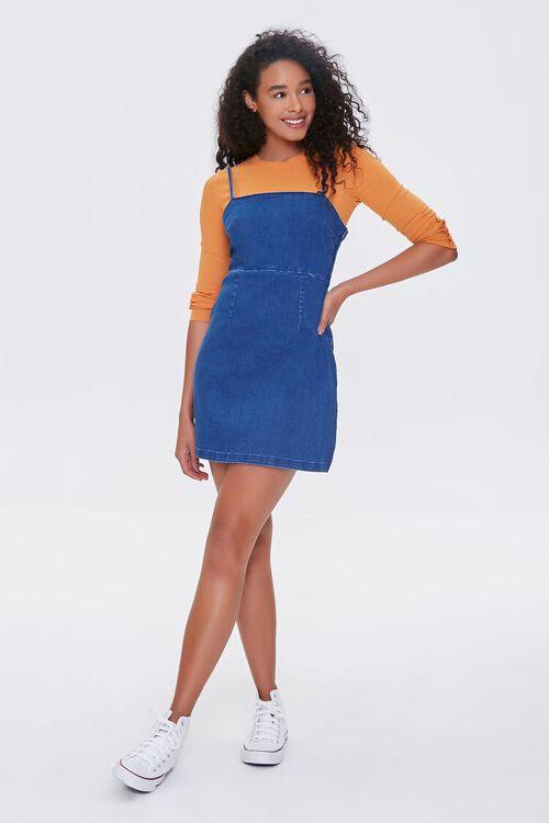 Denim Pinafore Dress, image 4