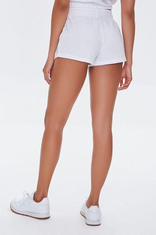 WHITE French Terry Drawstring Shorts, image 4