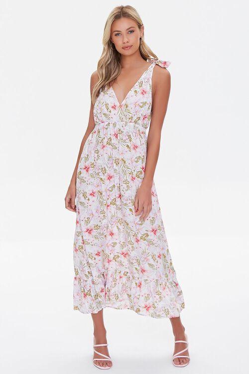 Floral Print Midi Dress, image 1